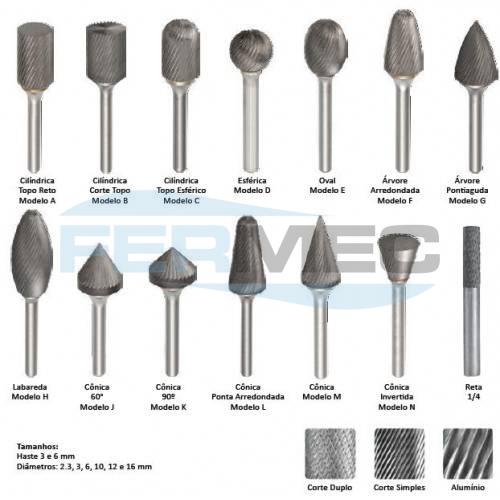 Limas Rotativas de Metal Duro