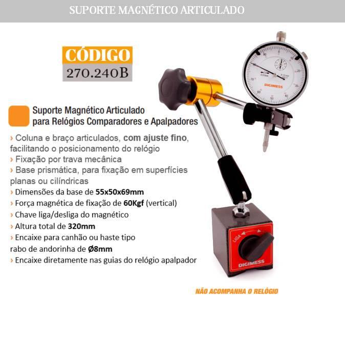 Suporte Magnético Articulado para Relógios