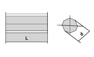 Pastilha para Mineração Oitavada - 01 - Desenho Técnico