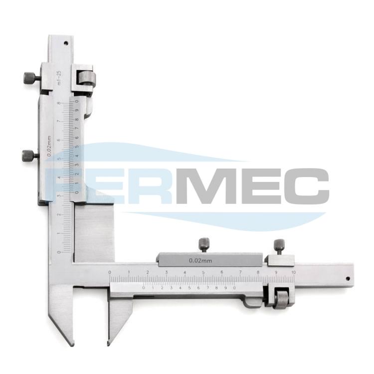 Paquímetro para Medições de Dentes de Engrenagens