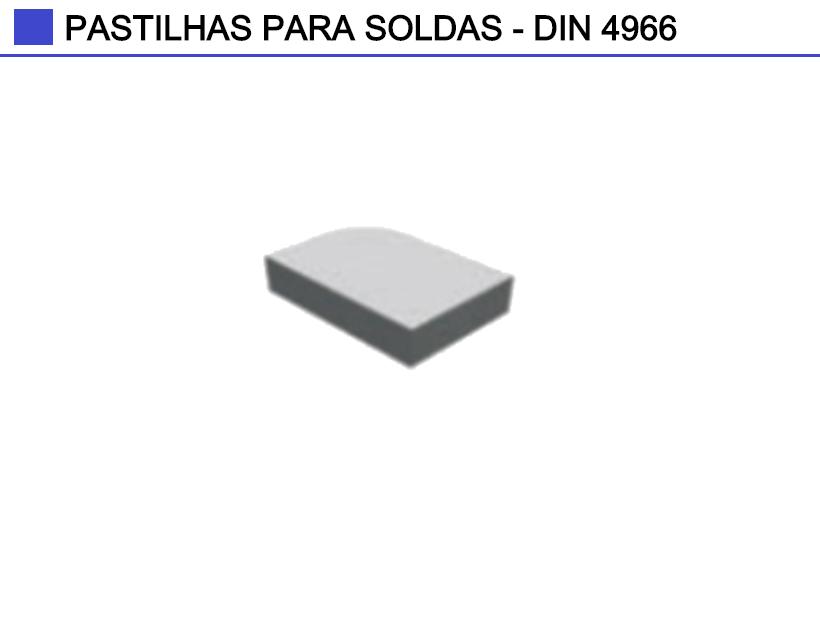 Pastilhas de Solda Norma DIN 4966