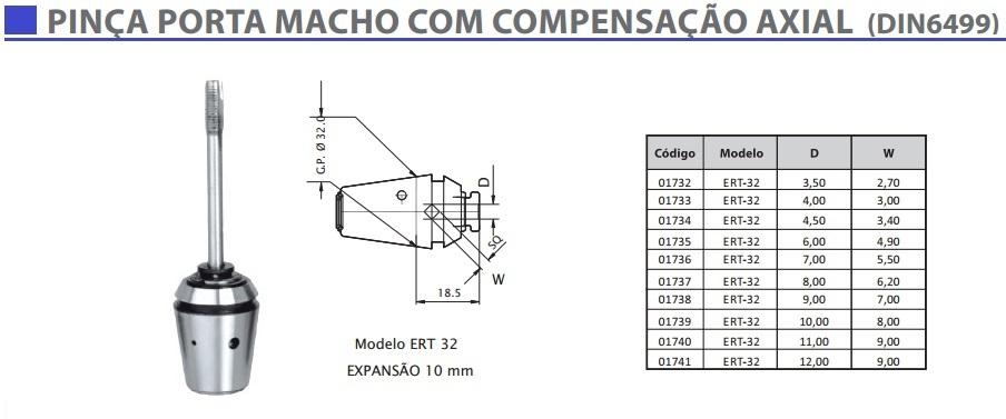Pinça Porta Macho ERT32