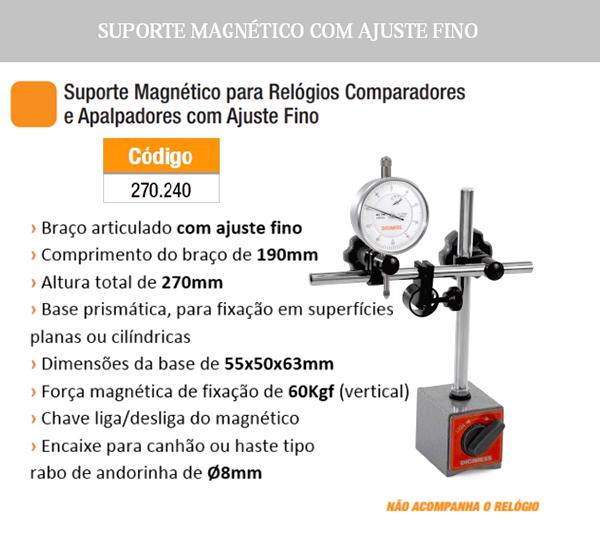 Suporte Magnético para Relógios com Ajuste Fino