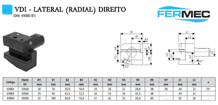 VDI - Lateral (Radial) Direito