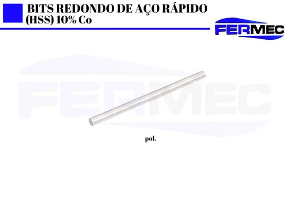 Bits Redondo 10% Cobalto  (pol.) polegada