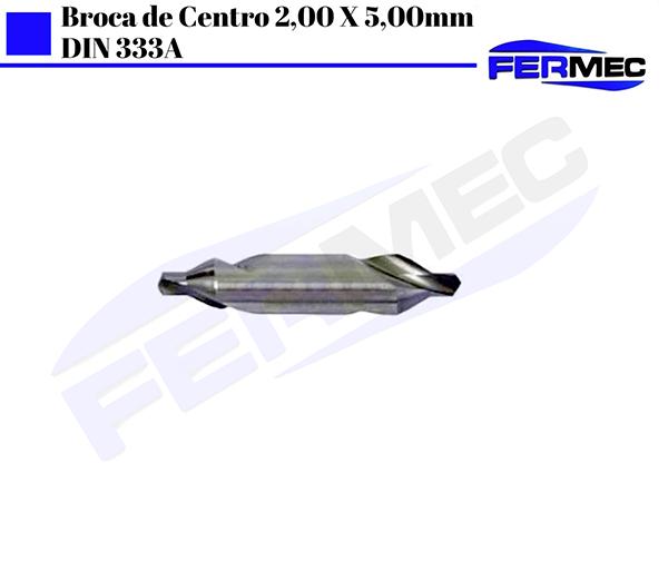 Broca de Centro 2,00 X 5,00mm DIN 333A