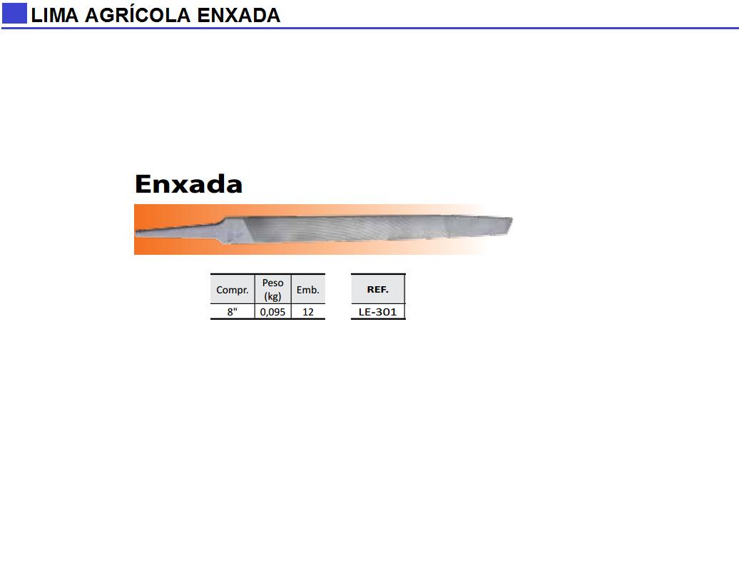 Lima Agrícola Enxada
