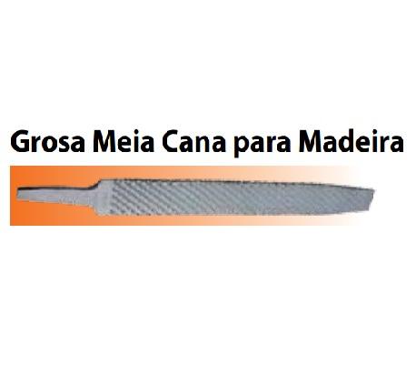 Lima Agrícola Grosa Meia Cana para Madeira