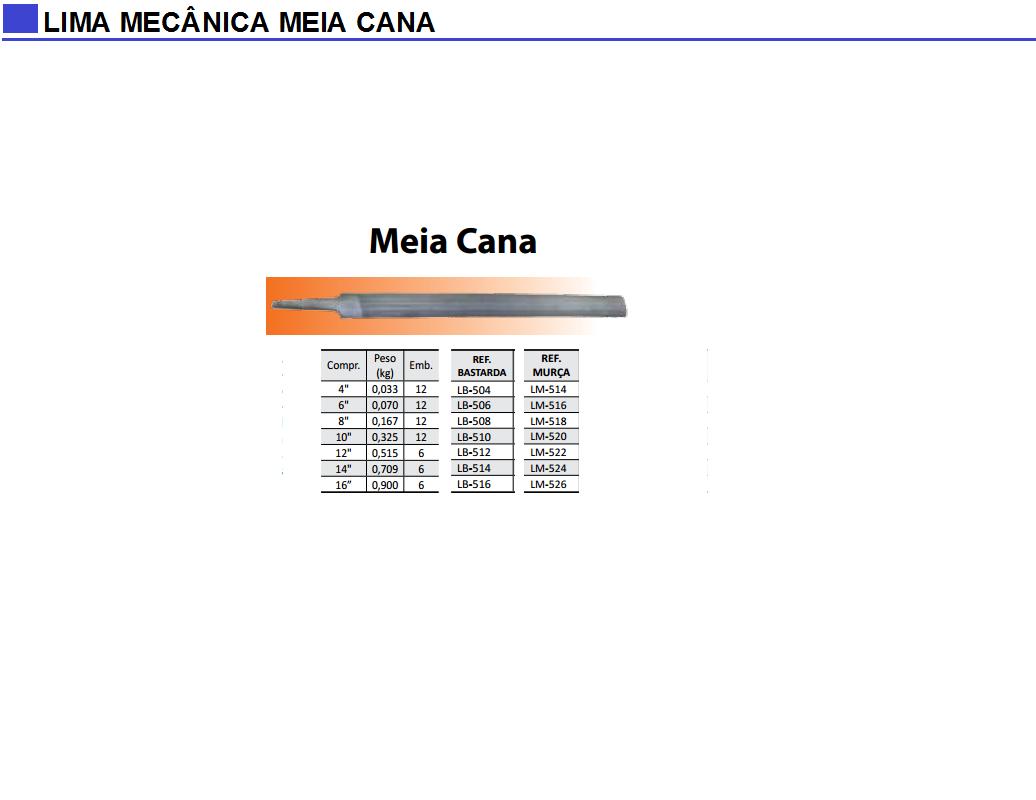 Lima Mecânica Meia Cana