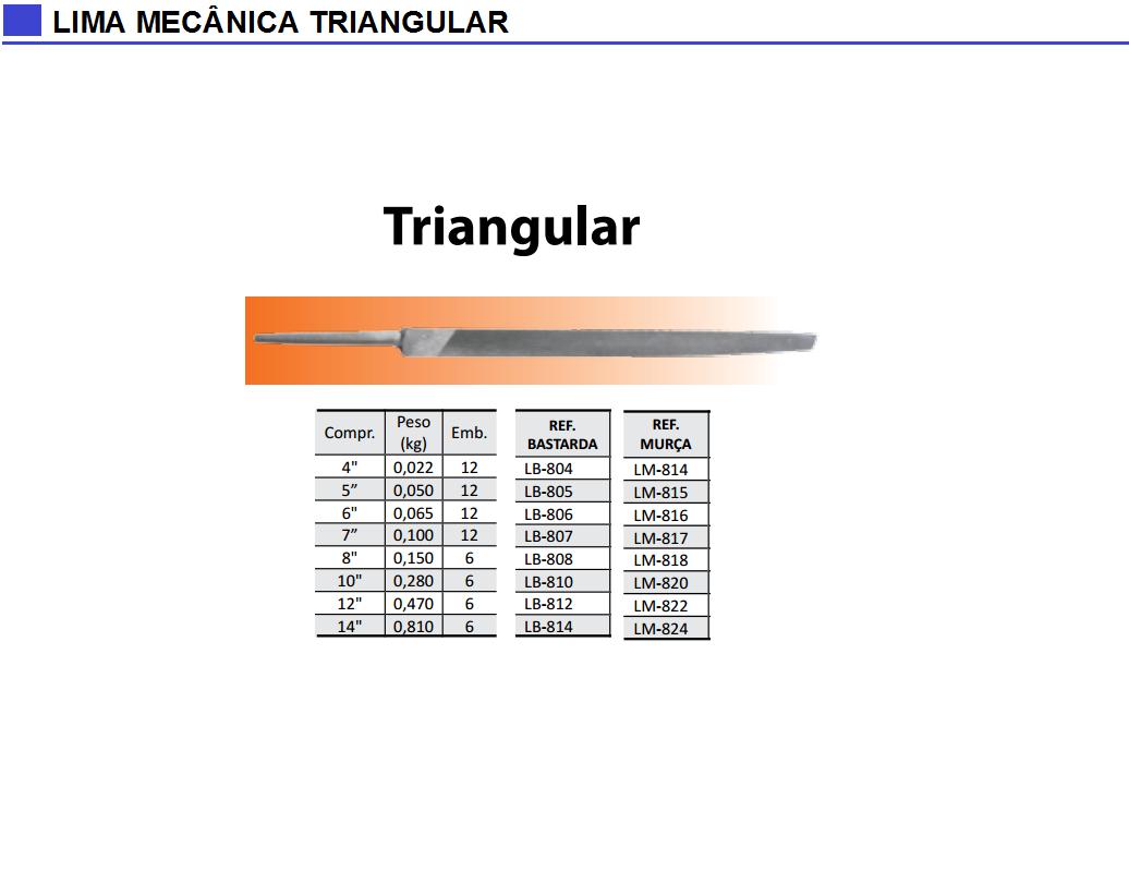 Lima Mecânica Triangular