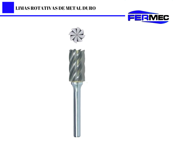 Lima Rotativa Metal Duro Cil. Corte Frontal Aluminio