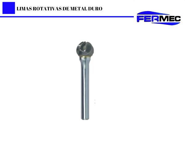 Lima Rotativa Metal Duro Esférica Para Alumínio