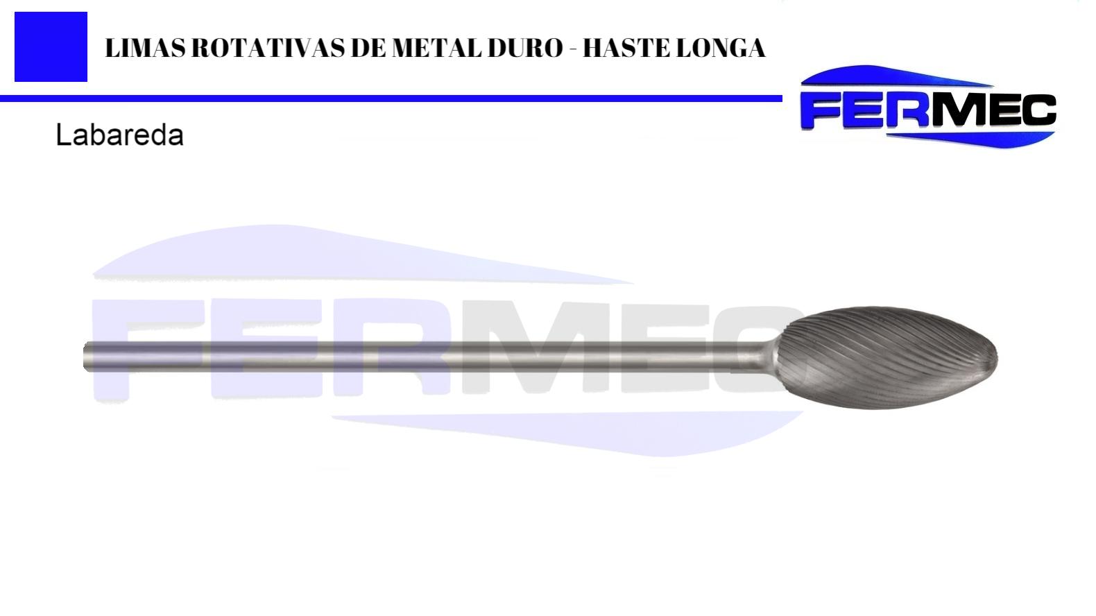 Lima Rotativa Metal Duro Labareda Haste Longa
