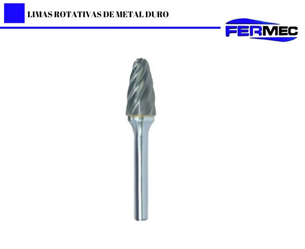 Lima Rotativa Metal Duro Arvore  Para Alumínio