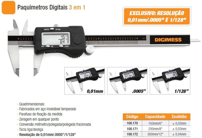 Paquímetros Digitais 100.170