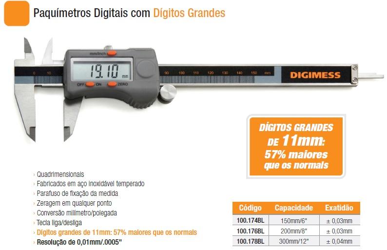 Paquímetros Digitais 100.174L