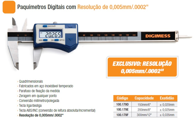 Paquímetros Digitais 100.179D