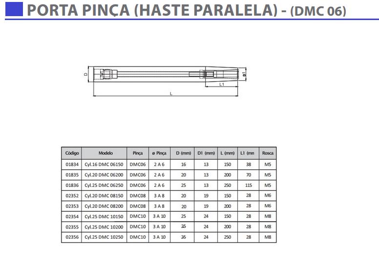 Porta Pinça Haste Paralela (DMC 06)